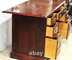 American Mahogany Kneehole Desk Secretary Writing Office Table Furniture Vintage
