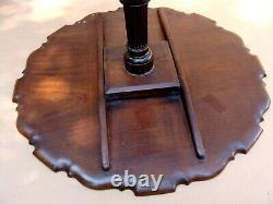 Antique 18c English Chippendale Pie Crust Acajou Astuce Table