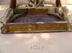 Antique 18c Irish Chippendale Gilt Bois Marbre Top Console