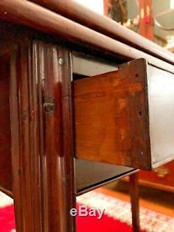 Antique 18e Siècle Philadelphie Chippendale Card Table Expédition Disponible