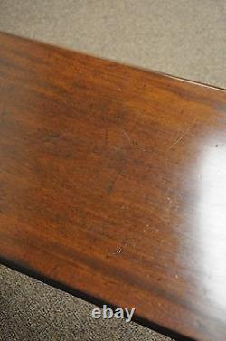 Antique 30w Chippendale Queen Anne Shell Sculptée Acajou 1 Table Console De Tiroir