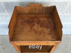 Antique Birds Eye-tiger Maple Hepplewhite Style Wash Stand-side Table