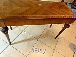 Antique Century 19 Acajou Flip Top Table De Jeu Rare, Belle & Le Prix De Vente