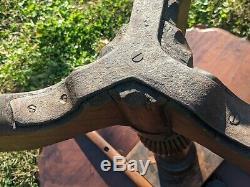 Antique Chippendale Mahogany Table Thé Anglais Du 18ème Siècle Sculpté Piecrust