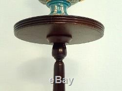 Antique Chippendale Queen Anne Table Pedestal Plante Trépied Acajou Support En Bois