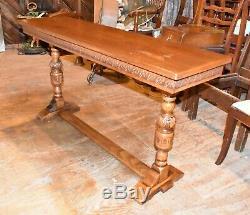 Antique En Chêne Massif Canapé Table Vintage Furniture