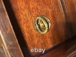 Antique MID Century Chinese Fin Table Chippendale Fretwork Avec Plateau De Tiroir #6095