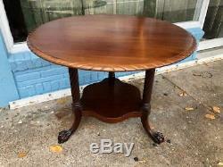 Antique Style Acajou Ronde Petit-déjeuner Ou Dîner Table, Style Chippendale