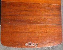Antique Vintage En Bois D'acajou En Bois Abattants Socle Pied Griffe Table