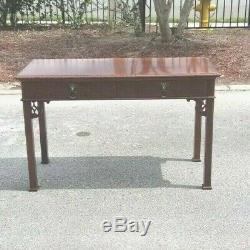 Au Milieu Du Siècle Style Chinois Chippendale Table Console Bureau Baker Furniture