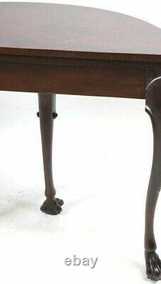 Baker Furniture Stately Homes Collection Acajou Irlandais Demilune Table