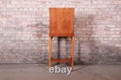 Baker Furniture Style Chippendale Étroit Bureau D'écriture Ou Entrée De Table