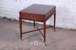 Baker Furniture - Table D'appoint X-base En Acajou, Collection Charleston Historique