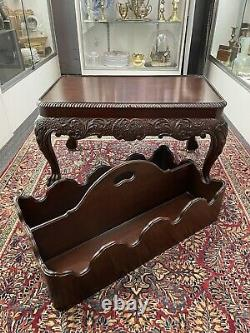 Baker Meubles Chippendale Canterbury Ahogany 2 Pieces Magazine Librairie Stand