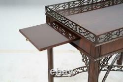 Baker Williamsburg Collection Acajou Chippendale Table De Thé Table D'argent Rare