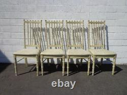 Bamboo Dining Set Chairs Table Kitchen Sièges Thomasville Allegro Chippendale
