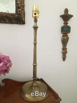 Bambou Faux Élégant, La Qualité Lampe De Table En Laiton, 44cm, 1960 Circa
