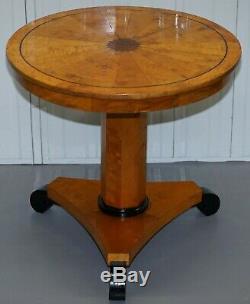 Belle 1880 Antique Satin Birch Biedermeier Centre Occasional Table Cocktail