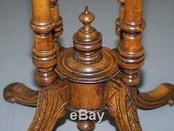 Belle Époque Victorienne 1880 Noyer Et Boxwood Marqueterie Marqueterie Jeux D'échecs Table Ovale