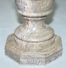 Belle Moyen Marbre Solide Side Fin Lampe De Vin Table Basse Ronde Centre