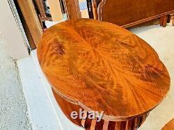Belle Paire Antique De Tables De Chevet Acajou Chippendale Incrustées Tables De Chevet