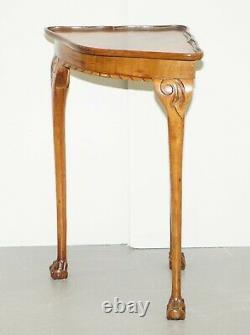 Belle Table De Jardinier Art Deco Claw & Ball Pieds D'angle De Circa Des Années 1930