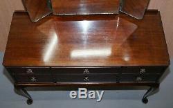 Belle Vintage Beithcraft Meubles Acajou Coiffeuse Vue Partielle Belle Suite