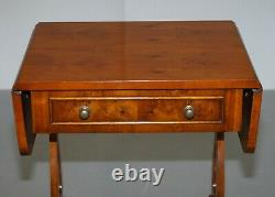Bevan Funnell Extension Burr Yew Table Latérale En Bois Correspondant Table Basse Disponible