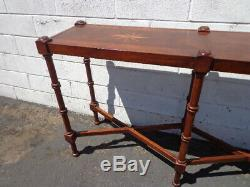 Bois Canapé Table Console Faux Bambou Chinoiserie Chinois Traditionnel Chippendale
