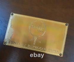 Century Furniture Sutton Chippendale Style Acajou Tea Table Accent Navire Gratuit