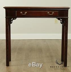 Chaise Hickory Acajou Et Ronce Style Chippendale One Console Tiroir Table