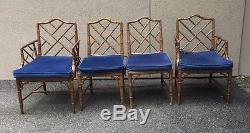 Chaises Chippendale Vintage 4 Chinoises Avec Table Assortie