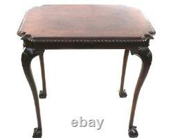Chippendale Acajou Table Occasionnellement Pieds Boule Et Griffe 5822