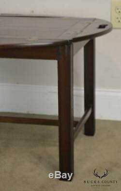 Chippendale Antique 19ème Siècle Anglais Acajou Butlers Table Basse