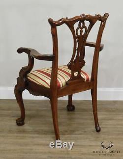 Chippendale Custom Style Acajou Ball & Claw Table À Manger Et 8 Chaises Set