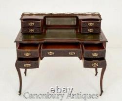 Chippendale Desk Acajou Table D'écriture Antique 1890