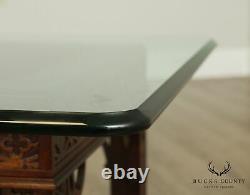 Chippendale Style Acajou, Table À Café En Verre