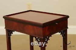 Chippendale Style Acajou Table Latérale, Lift Top