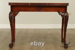Chippendale Style Personnalisé De Qualité Acajou Table De Jeu