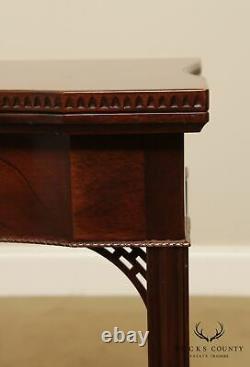 Colonial Williamsburg Collection Ahogany Georgian Style Flip Top Table De Jeu