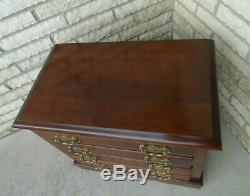 Commode De Bachelor Style Vintage Cerise Massif Chippendale