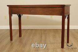 Conseil Chippendale Style Ahogany 2 Table Console De Tiroirs