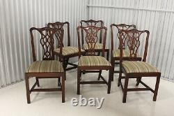 Conseill Artisan Chippendale Style Table À Manger W / 6 Chaises