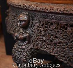Console Console Birmane Antique Sculptée Main Birmanie Vers 1880