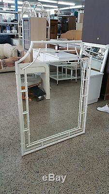Console Et Miroir Chippendale Tole Chinois Faux Bambou Élégant Polychrome Wow P