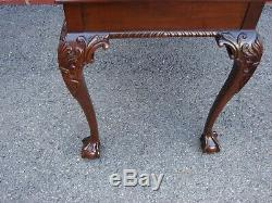 Councill Artisans Acajou Chippendale Clawfoot Table À Thé