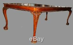 Coutume 8ft Séché Au Four En Acajou Style Chippendale Table À Manger