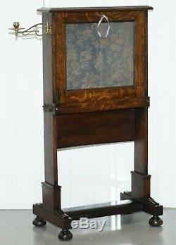 Début Victorienne Oak Écritoire Bureau Oriental Tapisserie Pour Ordinateur Portable Table De Travail Campagne