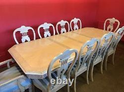Designer Art Deco Style Maple & Burr Ash Set De Table À Manger Pro Français Poli