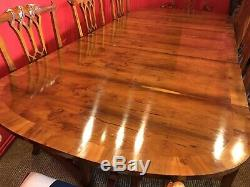 Designer Magnifique Style Art Déco Burr Yew Table À Manger De L'arbre Pro Poli Français